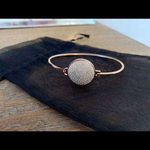 Kate spade clear stone rose gold bangle